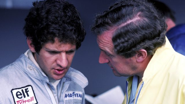 Jody Scheckter (left) talks with P34 designer Derek Gardner. Osterreichring, Austria, 1976. ©Sutton Motorsport Images
