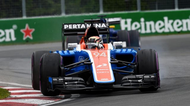 Pascal Wehrlein (GER) Manor Racing MRT05 at Formula One World Championship, Rd7, Canadian Grand Prix, Race, Montreal, Canada, Sunday 12 June 2016. &copy&#x3b; Manolo Media Sutton Images