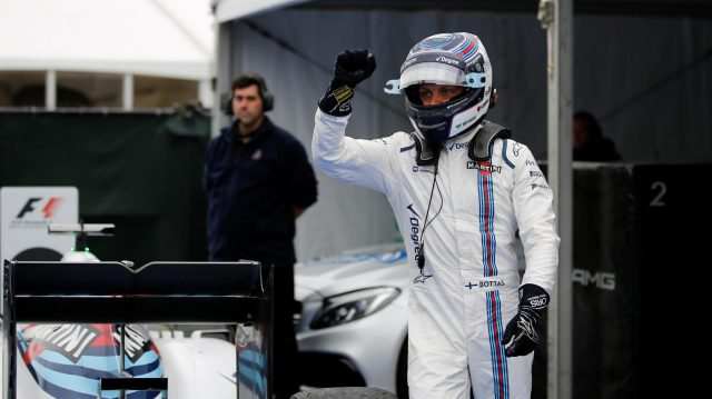 Valtteri Bottas (FIN) Williams celebrates in parc ferme at Formula One World Championship, Rd7, Canadian Grand Prix, Race, Montreal, Canada, Sunday 12 June 2016. &copy&#x3b; Sutton Images