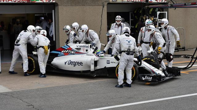 Felipe Massa (BRA) Williams FW38 retires from the race at Formula One World Championship, Rd7, Canadian Grand Prix, Race, Montreal, Canada, Sunday 12 June 2016. &copy&#x3b; Sutton Images
