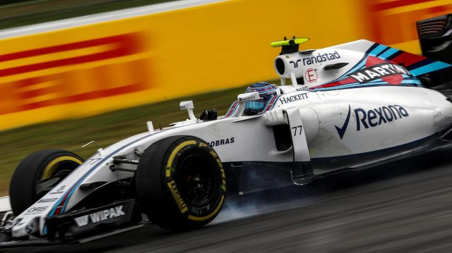 Valtteri Bottas (FIN) Williams FW38 locks up at Formula One World Championship, Rd12, German Grand Prix, Practice, Hockenheim, Germany, Friday 29 July 2016. &copy&#x3b; Sutton Images