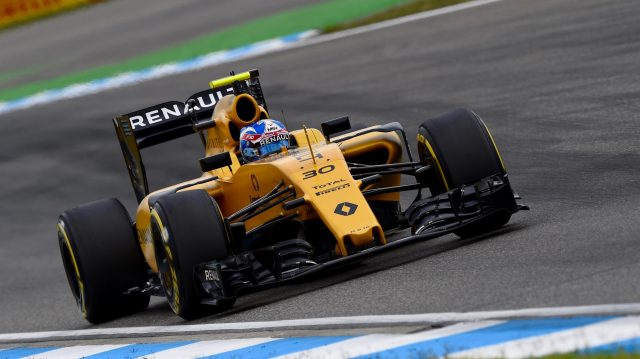 Jolyon Palmer (GBR) Renault Sport F1 Team RS16 at Formula One World Championship, Rd12, German Grand Prix, Practice, Hockenheim, Germany, Friday 29 July 2016. &copy&#x3b; Sutton Images