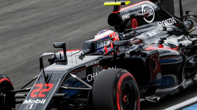 Jenson Button (GBR) McLaren MP4-31 at Formula One World Championship, Rd12, German Grand Prix, Practice, Hockenheim, Germany, Friday 29 July 2016. &copy&#x3b; Sutton Images