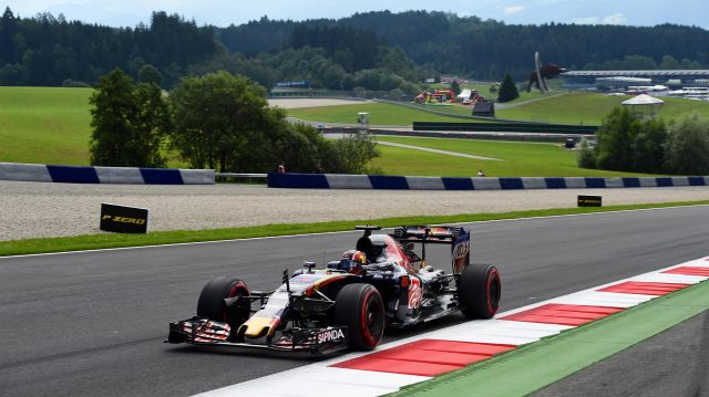 Daniil Kvyat (RUS) Scuderia Toro Rosso STR11 at Formula One World Championship, Rd9, Austrian Grand Prix, Practice, Spielberg, Austria, Friday 1 July 2016. &copy&#x3b; Sutton Images