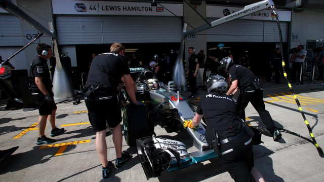 Lewis Hamilton (GBR) Mercedes-Benz F1 W07 Hybrid at Formula One World Championship, Rd9, Austrian Grand Prix, Practice, Spielberg, Austria, Friday 1 July 2016. &copy&#x3b; Sutton Images