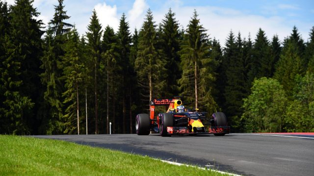 Daniel Ricciardo (AUS) Red Bull Racing RB12 at Formula One World Championship, Rd9, Austrian Grand Prix, Practice, Spielberg, Austria, Friday 1 July 2016. &copy&#x3b; Sutton Images