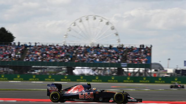 Carlos Sainz jr (ESP) Scuderia Toro Rosso STR11 at Formula One World Championship, Rd10, British Grand Prix, Practice, Silverstone, England, Friday 8 July 2016. &copy&#x3b; Sutton Images