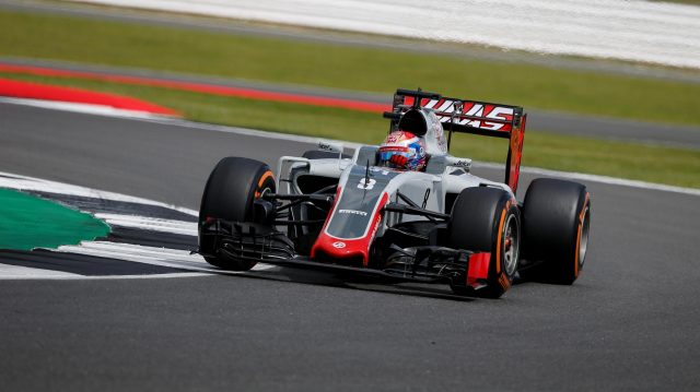Romain Grosjean (FRA) Haas VF-16 at Formula One World Championship, Rd10, British Grand Prix, Practice, Silverstone, England, Friday 8 July 2016. &copy&#x3b; Sutton Images