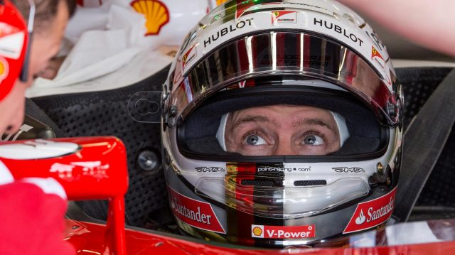 Sebastian Vettel (GER) Ferrari SF16-H at Formula One World Championship, Rd10, British Grand Prix, Practice, Silverstone, England, Friday 8 July 2016. &copy&#x3b; Sutton Images