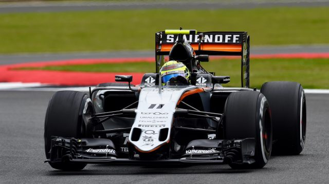 Sergio Perez (MEX) Force India VJM09 at Formula One World Championship, Rd10, British Grand Prix, Practice, Silverstone, England, Friday 8 July 2016. &copy&#x3b; Sutton Images