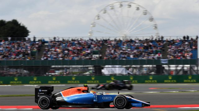 Rio Haryanto (IDN) Manor Racing MRT05 at Formula One World Championship, Rd10, British Grand Prix, Practice, Silverstone, England, Friday 8 July 2016. &copy&#x3b; Sutton Images