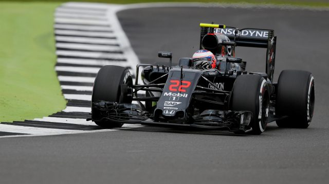 Jenson Button (GBR) McLaren MP4-31 at Formula One World Championship, Rd10, British Grand Prix, Practice, Silverstone, England, Friday 8 July 2016. &copy&#x3b; Sutton Images