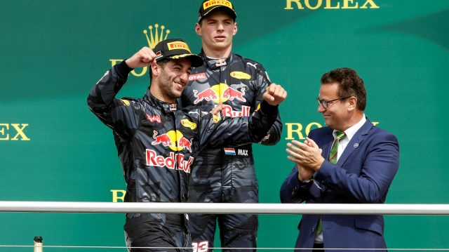 Red Bull had two drivers on the podium for the first time this year. &copy&#x3b; Sutton Images