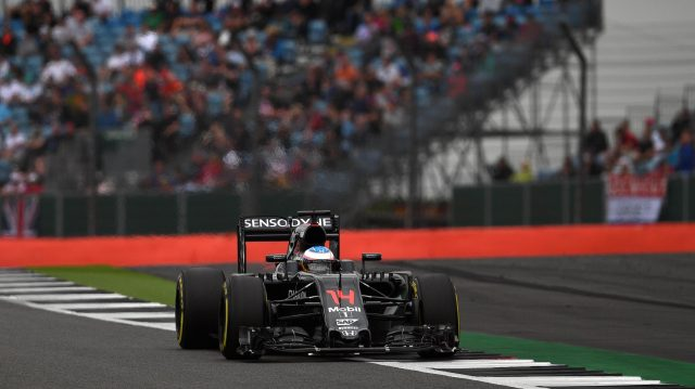 Fernando Alonso (ESP) McLaren MP4-31 at Formula One World Championship, Rd10, British Grand Prix, Qualifying, Silverstone, England, Saturday 9 July 2016. &copy&#x3b; Sutton Images
