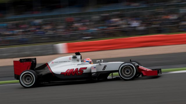 Romain Grosjean (FRA) Haas VF-16 at Formula One World Championship, Rd10, British Grand Prix, Qualifying, Silverstone, England, Saturday 9 July 2016. &copy&#x3b; Sutton Images