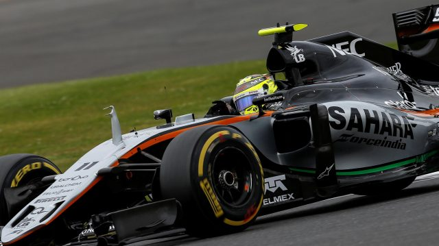 Sergio Perez (MEX) Force India VJM09 at Formula One World Championship, Rd10, British Grand Prix, Qualifying, Silverstone, England, Saturday 9 July 2016. &copy&#x3b; Sutton Images