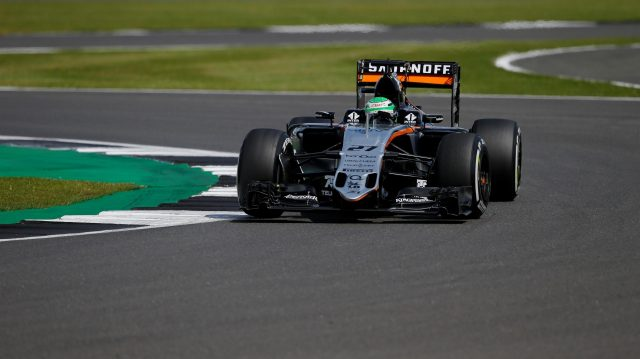 Nico Hulkenberg (GER) Force India VJM09 at Formula One World Championship, Rd10, British Grand Prix, Practice, Silverstone, England, Friday 8 July 2016. &copy&#x3b; Sutton Images