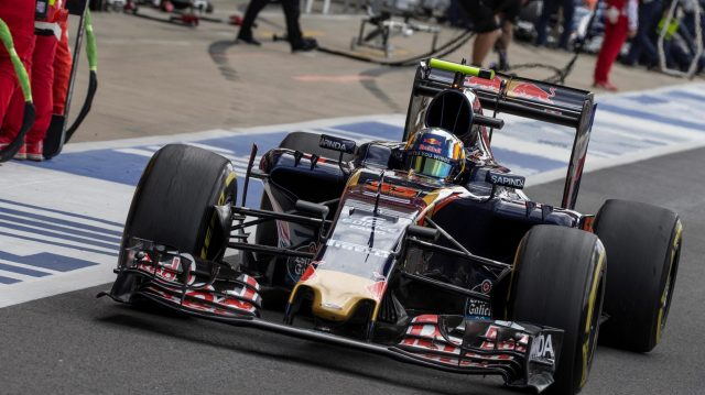 Carlos Sainz (ESP) Scuderia Toro Rosso STR11 at Formula One World Championship, Rd10, British Grand Prix, Practice, Silverstone, England, Friday 8 July 2016. &copy&#x3b; Sutton Images