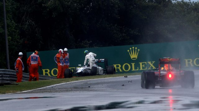 Felipe Massa (BRA) Williams FW38 crashed in Q1 at Formula One World Championship, Rd11, Hungarian Grand Prix, Qualifying, Hungaroring, Hungary, Saturday 23 July 2016. &copy&#x3b; Sutton Images