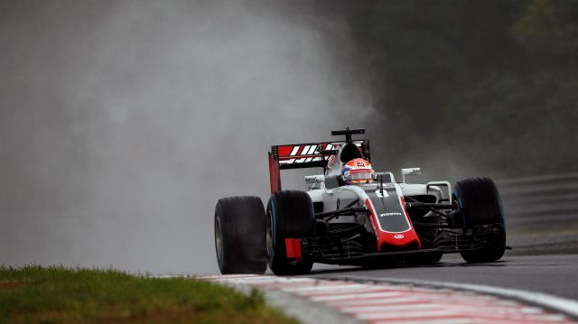 Romain Grosjean (FRA) Haas VF-16 at Formula One World Championship, Rd11, Hungarian Grand Prix, Qualifying, Hungaroring, Hungary, Saturday 23 July 2016. &copy&#x3b; Sutton Images