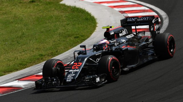 Jenson Button (GBR) McLaren MP4-31 at Formula One World Championship, Rd11, Hungarian Grand Prix, Qualifying, Hungaroring, Hungary, Saturday 23 July 2016. &copy&#x3b; Sutton Images