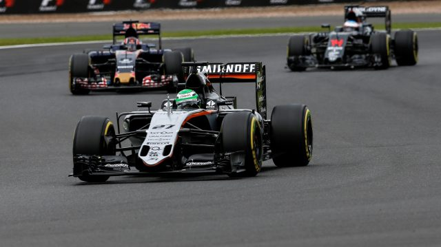 Nico Hulkenberg (GER) Force India VJM09 at Formula One World Championship, Rd10, British Grand Prix, Qualifying, Silverstone, England, Saturday 9 July 2016. &copy&#x3b; Sutton Images