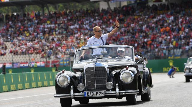 Valtteri Bottas (FIN) Williams on the drivers parade at Formula One World Championship, Rd12, German Grand Prix, Race, Hockenheim, Germany, Sunday 31 July 2016. &copy&#x3b; Sutton Images