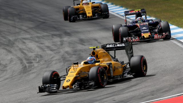 Jolyon Palmer (GBR) Renault Sport F1 Team RS16 at Formula One World Championship, Rd12, German Grand Prix, Race, Hockenheim, Germany, Sunday 31 July 2016. &copy&#x3b; Sutton Images