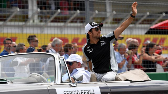 Sergio Perez (MEX) Force India on the drivers parade at Formula One World Championship, Rd12, German Grand Prix, Race, Hockenheim, Germany, Sunday 31 July 2016. &copy&#x3b; Sutton Images