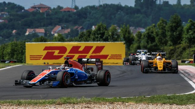 Pascal Wehrlein (GER) Manor Racing MRT05 at Formula One World Championship, Rd11, Hungarian Grand Prix, Race, Hungaroring, Hungary, Sunday 24 July 2016. &copy&#x3b; Sutton Images