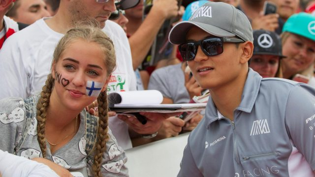 Rio Haryanto (IDN) Manor Racing and fans at Formula One World Championship, Rd11, Hungarian Grand Prix, Race, Hungaroring, Hungary, Sunday 24 July 2016. &copy&#x3b; Sutton Images