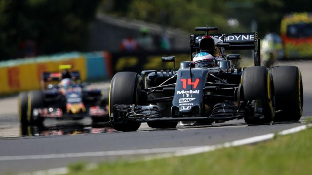 Fernando Alonso (ESP) McLaren MP4-31 at Formula One World Championship, Rd11, Hungarian Grand Prix, Race, Hungaroring, Hungary, Sunday 24 July 2016. &copy&#x3b; Sutton Images