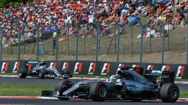 Lewis Hamilton (GBR) Mercedes-Benz F1 W07 Hybrid at Formula One World Championship, Rd11, Hungarian Grand Prix, Race, Hungaroring, Hungary, Sunday 24 July 2016. &copy&#x3b; Sutton Images