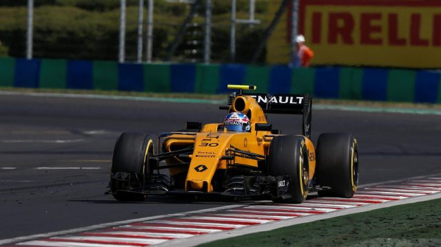 Jolyon Palmer (GBR) Renault Sport F1 Team RS16 at Formula One World Championship, Rd11, Hungarian Grand Prix, Race, Hungaroring, Hungary, Sunday 24 July 2016. &copy&#x3b; Sutton Images