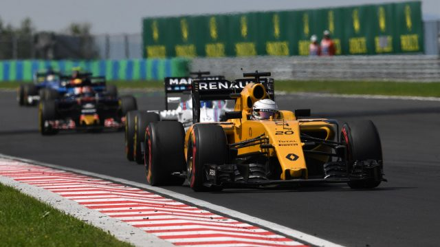 Kevin Magnussen (DEN) Renault Sport F1 Team RS16 at Formula One World Championship, Rd11, Hungarian Grand Prix, Race, Hungaroring, Hungary, Sunday 24 July 2016. &copy&#x3b; Sutton Images
