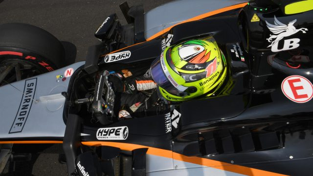 Sergio Perez (MEX) Force India VJM09 on the grid at Formula One World Championship, Rd11, Hungarian Grand Prix, Race, Hungaroring, Hungary, Sunday 24 July 2016. &copy&#x3b; Sutton Images
