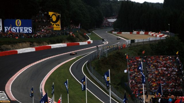 Belgian Grand Prix Circuit >> The evolution of Eau Rouge - F1's most thrilling corner in pictures