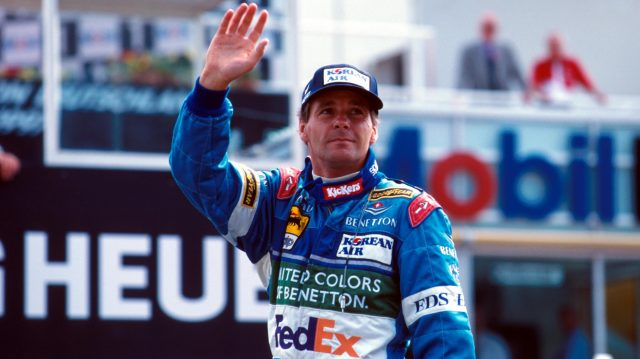 Gerhard Berger was 37 when he started his 200th race at San Marino in 1997. © Sutton Motorsport Images