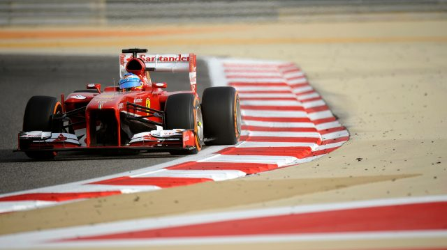 Fernando Alonso's 200th race start, for Ferrari in Bahrain in 2013, yielded a disappointing eighth. &copy&#x3b; Sutton Motorsport Images