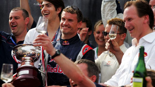 David Coulthard had the honour of scoring Red Bull's first ever podium finish on his 200th race start at Monaco in 2006. © Sutton Motorsport Images