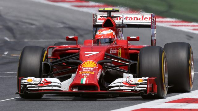 Kimi Raikkonen's 200th start was one to forget - he finished a lowly 10th in Austria in 2014. &copy&#x3b; Sutton Images