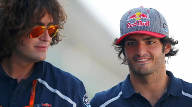 Carlos Sainz jr (ESP) Scuderia Toro Rosso and Marco Matassa (ITA) Scuderia Toro Rosso Engineer at Formula One World Championship, Rd14, Italian Grand Prix, Preparations, Monza, Italy, Thursday 1 September 2016. &copy&#x3b; Sutton Images
