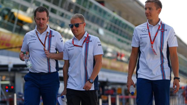 Valtteri Bottas (FIN) Williams with his trainer Antti Vierula (FIN) at Formula One World Championship, Rd14, Italian Grand Prix, Preparations, Monza, Italy, Thursday 1 September 2016. &copy&#x3b; Sutton Images