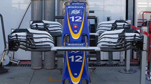 Sauber C35 nose and front wings at Formula One World Championship, Rd14, Italian Grand Prix, Preparations, Monza, Italy, Thursday 1 September 2016. &copy&#x3b; Sutton Images