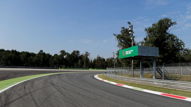 Track view at Formula One World Championship, Rd14, Italian Grand Prix, Preparations, Monza, Italy, Thursday 1 September 2016. &copy&#x3b; Sutton Images