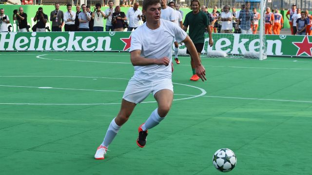 Max Verstappen (NED) Red Bull Racing at the Heineken Champions Of The Grid 5-A-Side Charity Football Match at Formula One World Championship, Rd14, Italian Grand Prix, Preparations, Monza, Italy, Thursday 1 September 2016. &copy&#x3b; Sutton Images