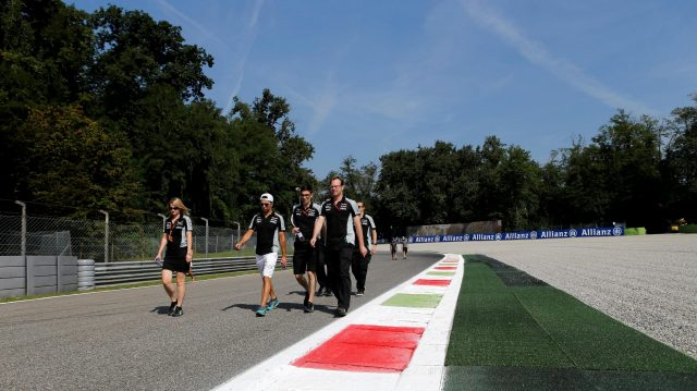 Sergio Perez (MEX) Force India walks the track at Formula One World Championship, Rd14, Italian Grand Prix, Preparations, Monza, Italy, Thursday 1 September 2016. &copy&#x3b; Sutton Images