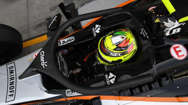 Sergio Perez (MEX) Force India VJM09 with halo at Formula One World Championship, Rd14, Italian Grand Prix, Practice, Monza, Italy, Friday 2 September 2016. &copy&#x3b; Sutton Images