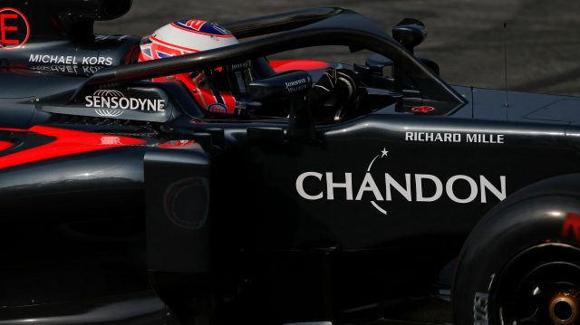 Jenson Button (GBR) McLaren MP4-31 with halo at Formula One World Championship, Rd14, Italian Grand Prix, Practice, Monza, Italy, Friday 2 September 2016. &copy&#x3b; Sutton Images