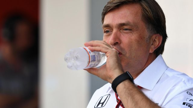 Jost Capito (GER) McLaren drinks at Formula One World Championship, Rd14, Italian Grand Prix, Practice, Monza, Italy, Friday 2 September 2016. &copy&#x3b; Sutton Images